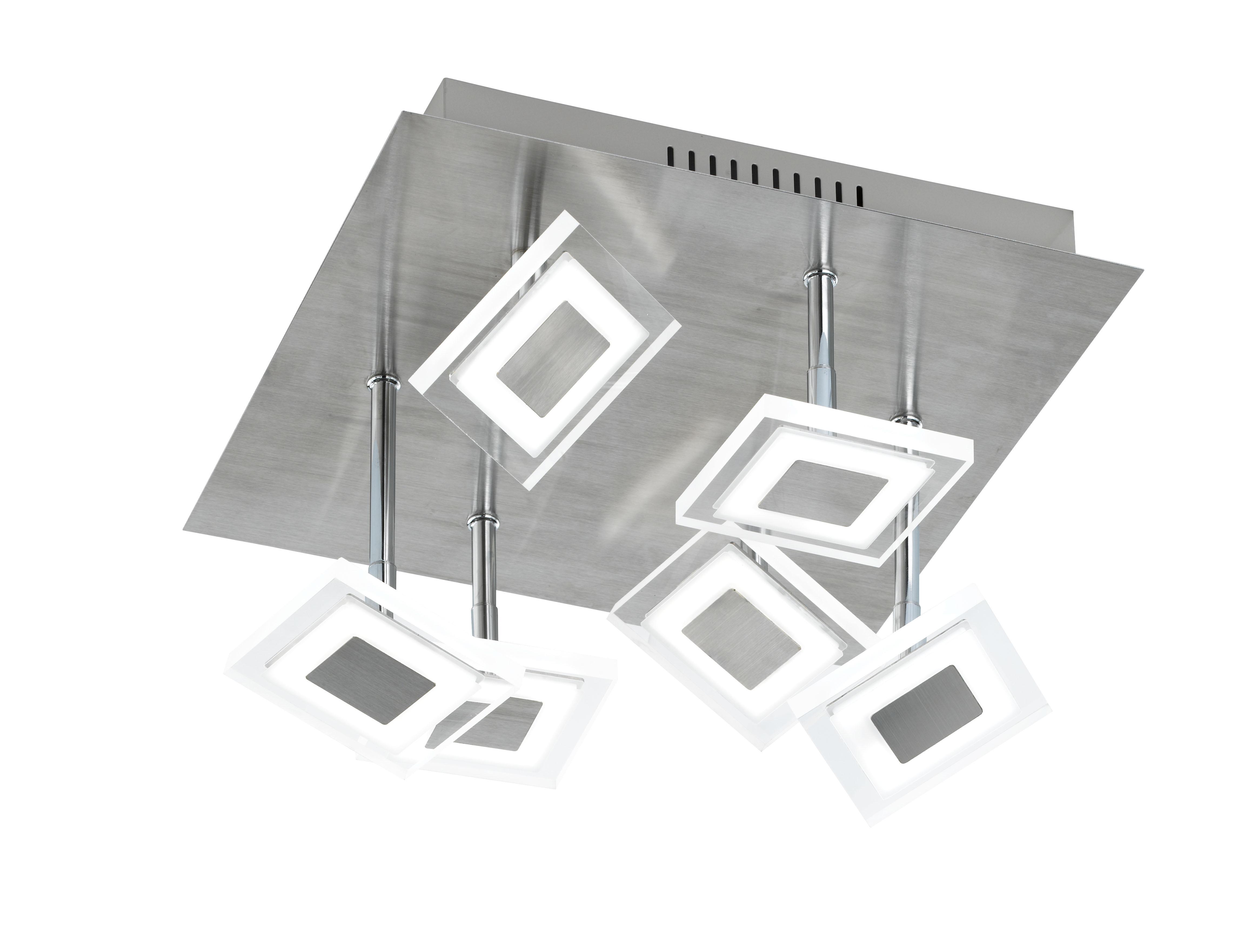 wofi deckenleuchte megan 6 flg nickel matt chrom. Black Bedroom Furniture Sets. Home Design Ideas