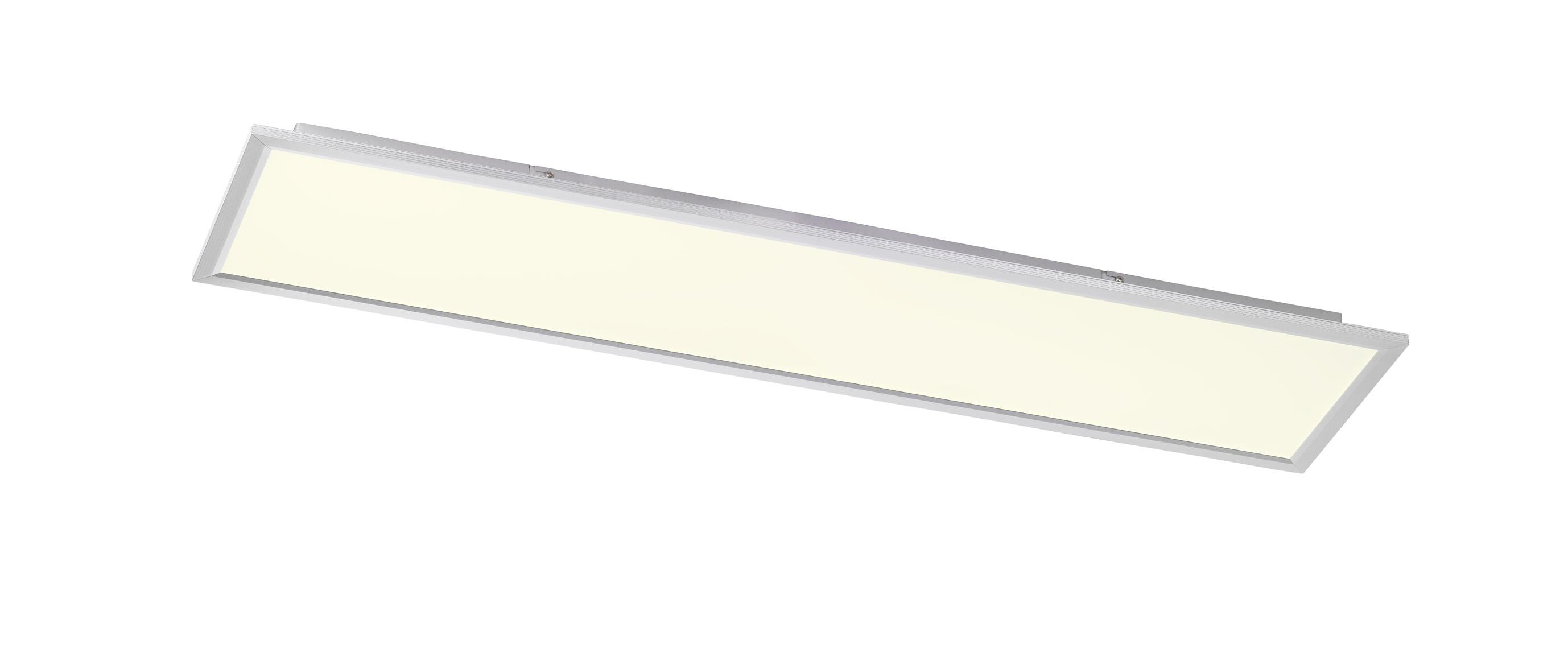 wofi deckenleuchte liv 1 flg silber 30x120 cm mit farbtemperaturwechsler. Black Bedroom Furniture Sets. Home Design Ideas