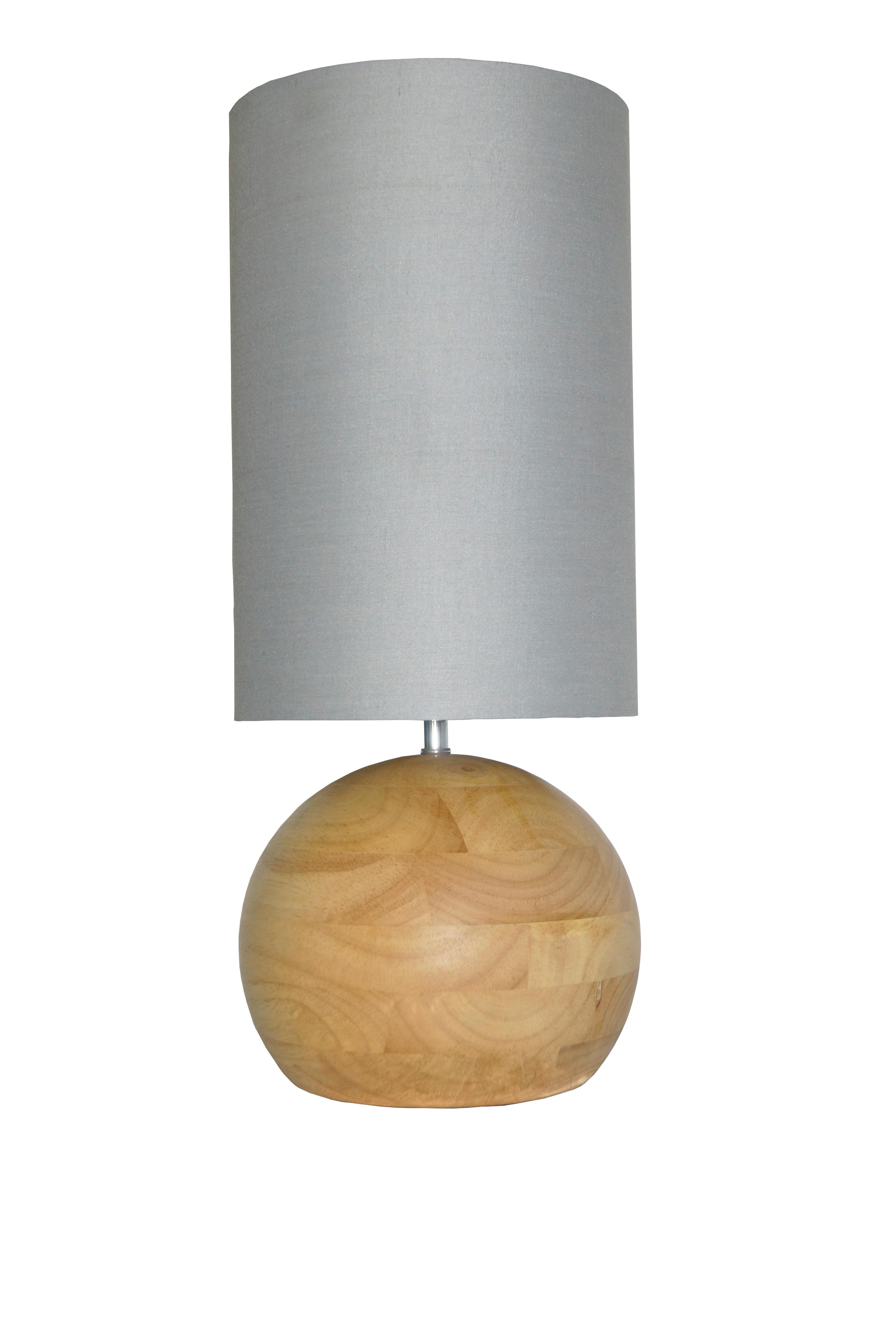 Wofi Stehleuchte Merida 1-flg Grau/Holz-3036.01.51.6050
